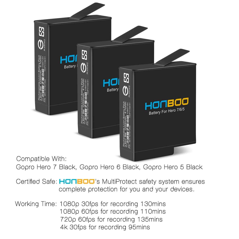 Amazon.com: HONBOO - Pilas (3 unidades) y triple cargador ...
