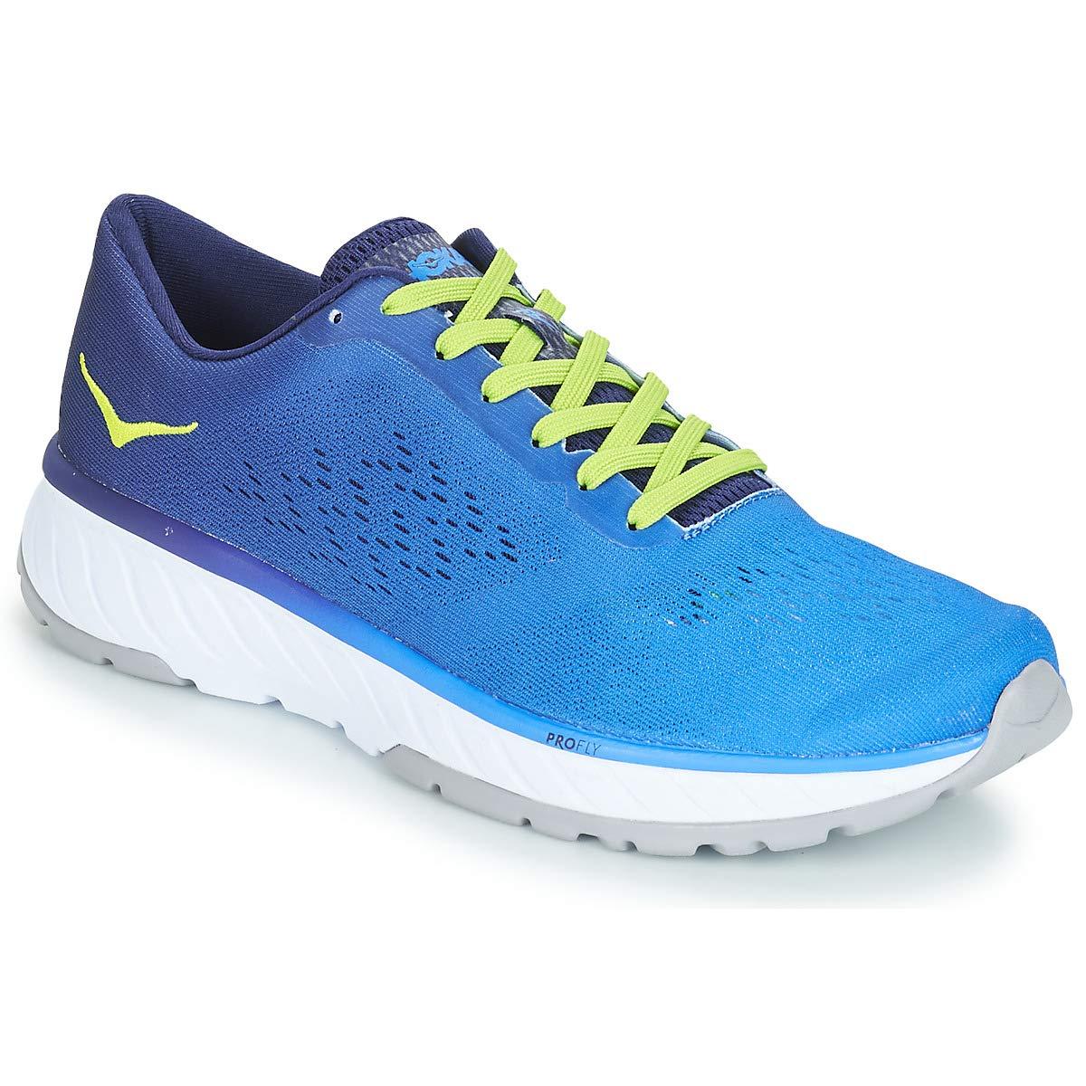 Hoka One One Cavu 2 Running schuhe Men French Blau Lime Grün 2019 Laufsport Schuhe