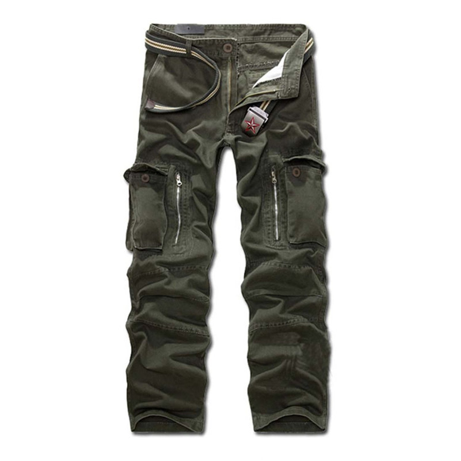 Toping Fine Pants Fashion Mens Slacks Trousers Military Army Combat Camo Work Pants Overalls 249 Army Green31 by Toping Fine Pants (Image #2)