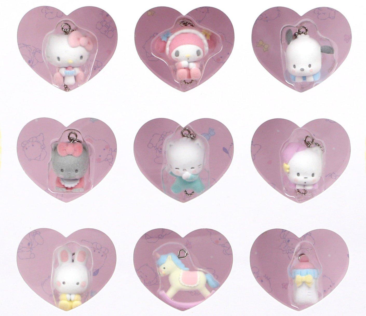 Sanrio characters 9-Piece Keychain Set: Sanrio babies