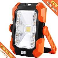 BEIEN 4400mAh Rechargeable Solar Portable Waterproof LED Work Light