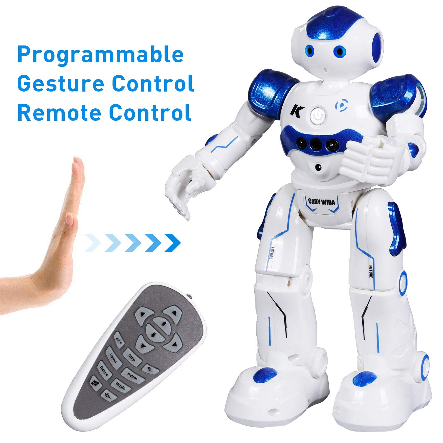 SGILE Remote Control Robot, RC Programmable Educational Robot for Kids Birthday Gift Present, Interactive Walking Singing Dancing Smart Intelligent Robotics for Kids Boy, Blue by SGILE (Image #1)