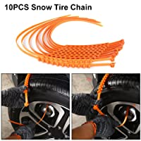10pcs Anti-skid Tire Chain, Portable Emergency Traction Car Snow Tire Anti-slip Chain for Sand Road Snow Road