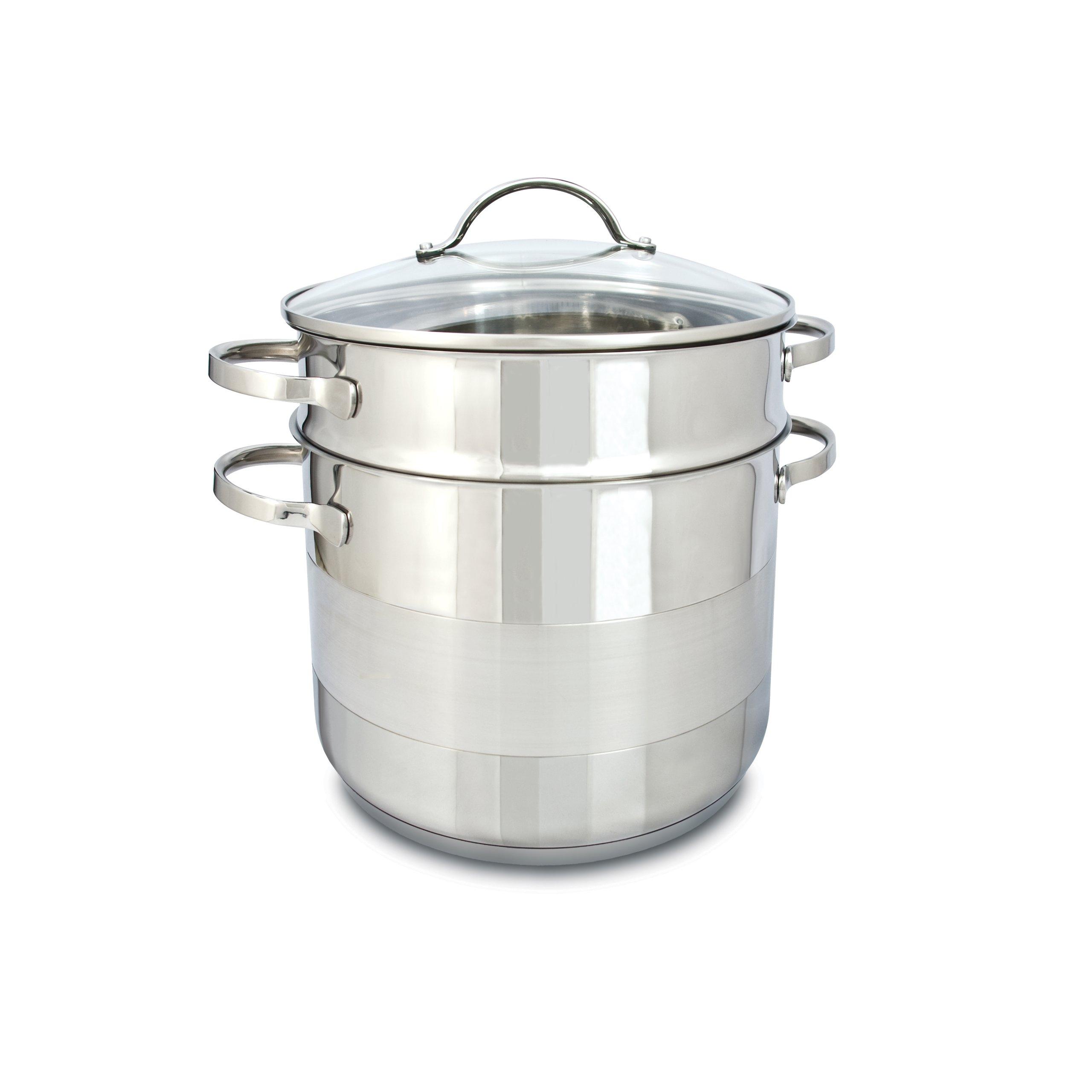 Cuisinox POT-C24-PASTA Gourmet Covered Pasta Pot Set, 7.5-Liter