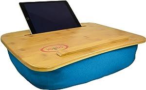 "Yogibo Set of 5 Turquoise Blue Bamboo Laptop Tray with Pillow 18.5"""