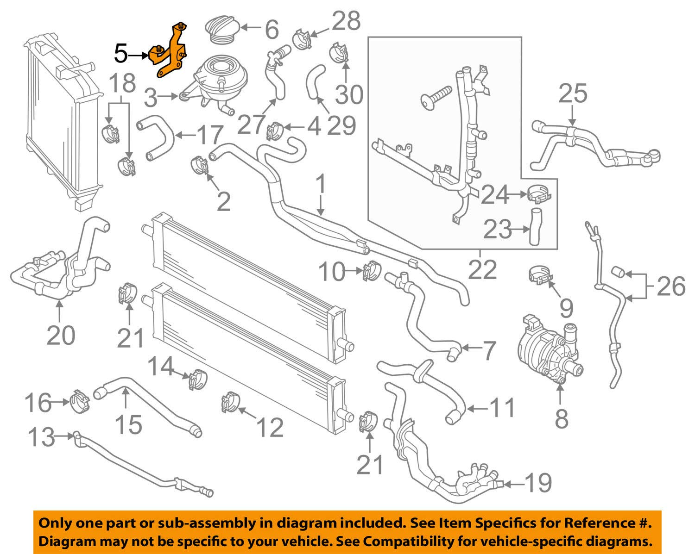 Porsche OEM 15-17 Cayenne Cooling-Reservoir Tank Support Bracket 95810640520