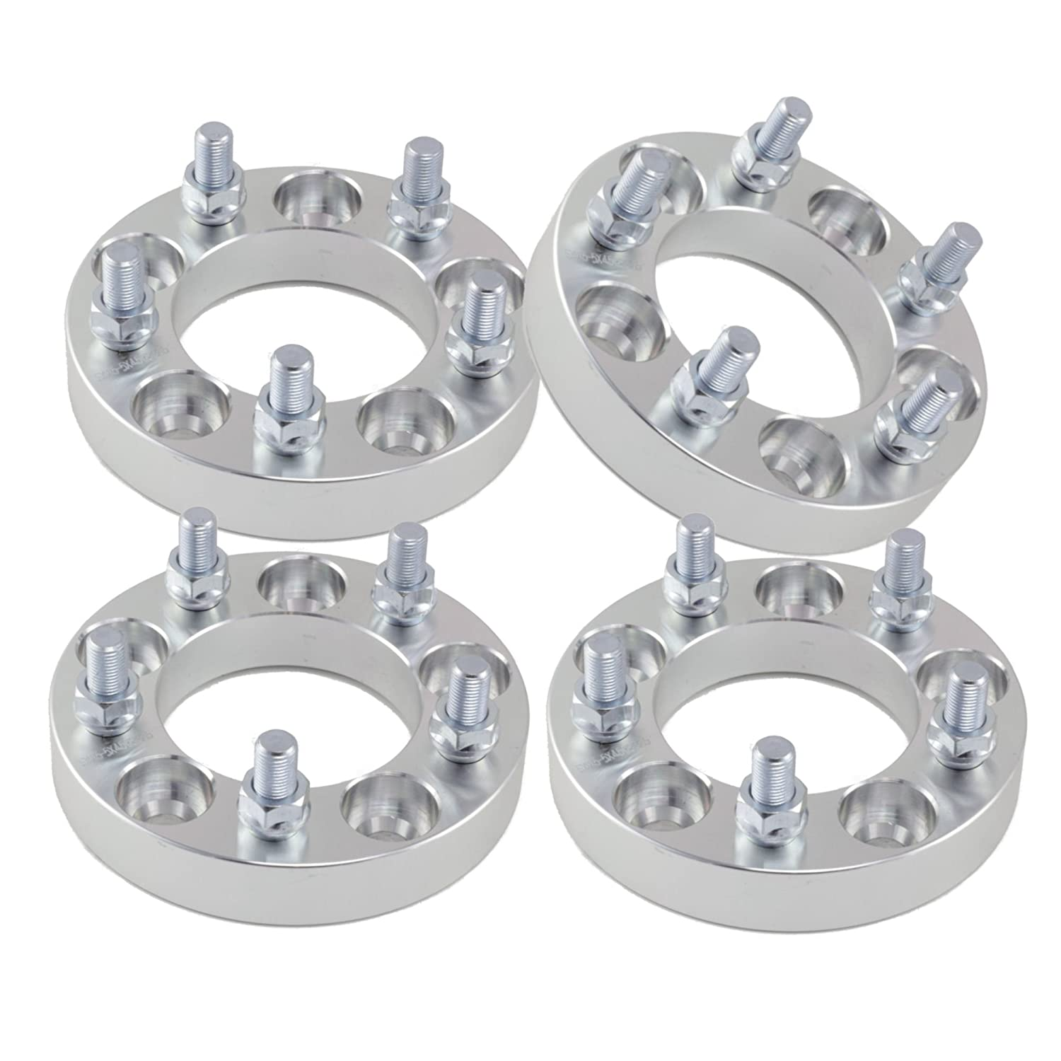 to 5x5 Wheel Adapters//Spacers 12x1.5 Studs 25mm 5x120.7 1 1.0 inch Thick | 5x4.75 4
