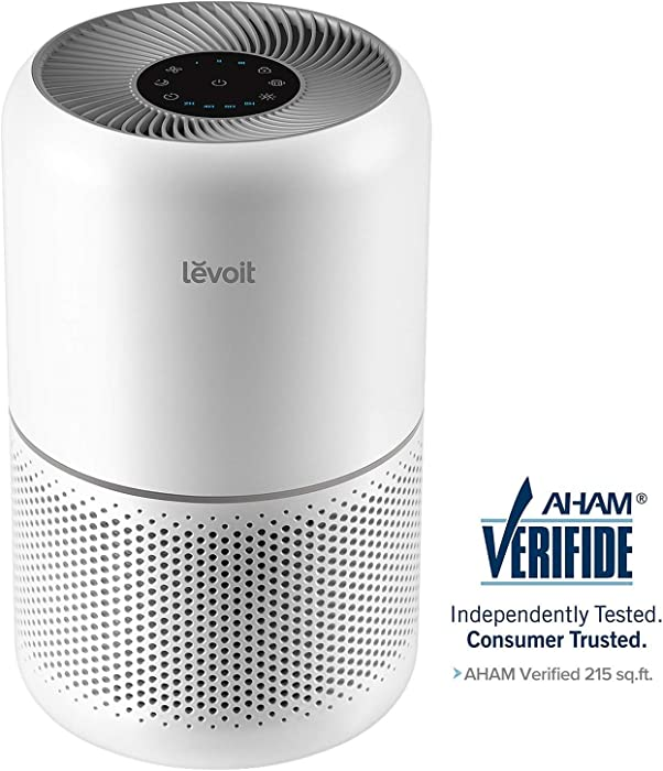 LEVOIT Air Purifier for Home Allergies and Pets Hair Smokers in Bedroom, True HEPA Filter, 24db Filtration System Cleaner Odor Eliminators, Remove 99.97% Smoke Dust Mold Pollen for Large Room,Core 300