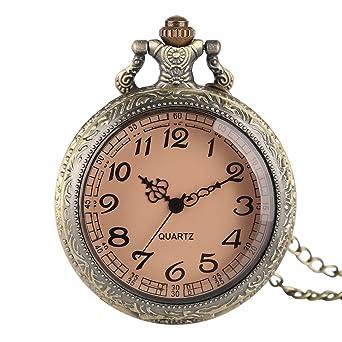 Poket Watch, reloj de cuarzo de bronce, regalo para hombre ...