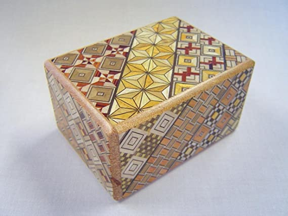 Caja secreta japonesa koyosegi, 3 SUN, 7 pasos para abrirla, puzzle: Amazon.es: Juguetes y juegos