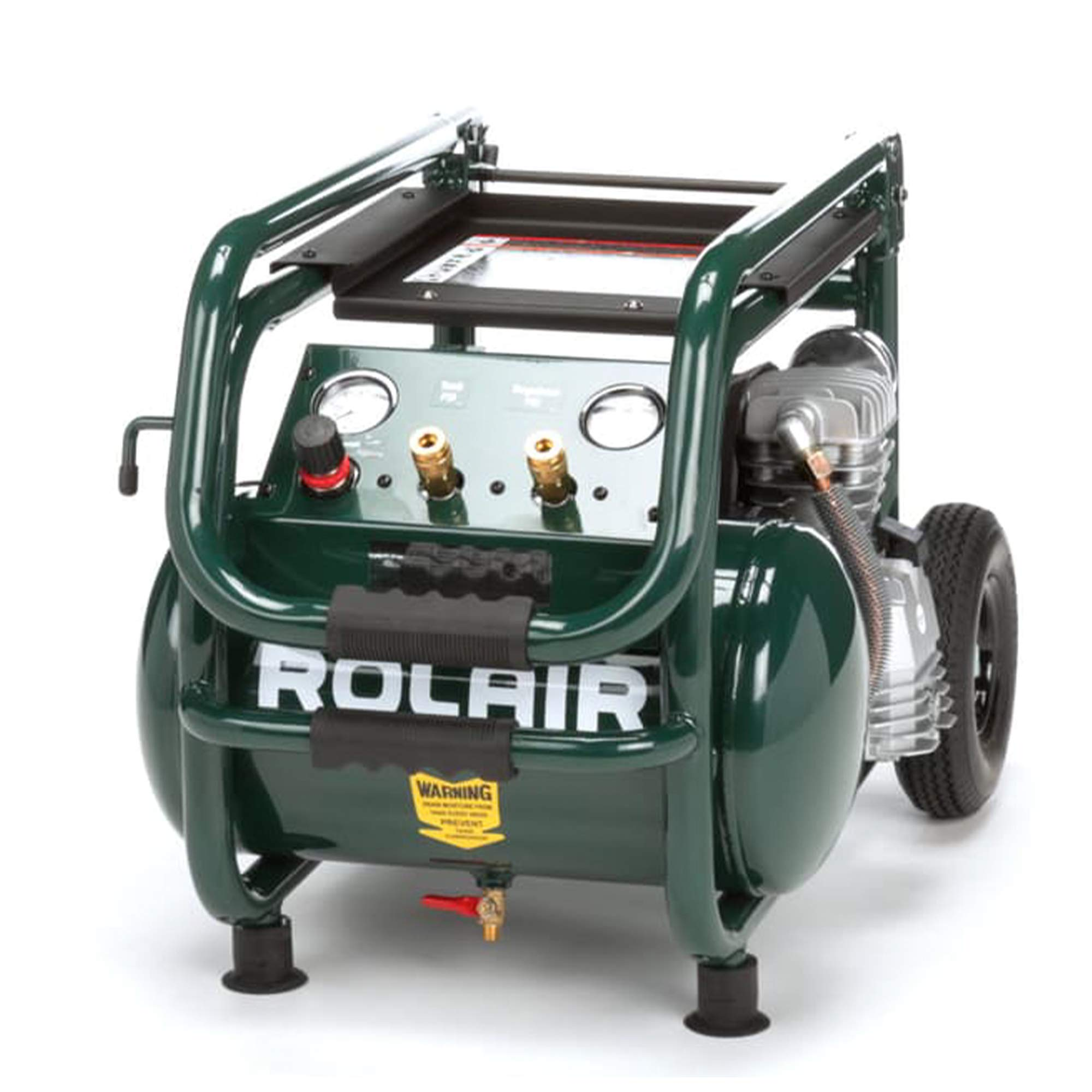 Rolair VT25BIG 2.5 HP Wheeled Compressor with Overload Protection and Manual Reset by Rolair