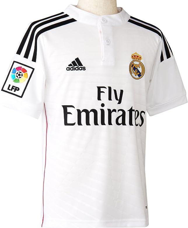 adidas Real Madrid C.F. 2014/2015 Local - Camiseta para niño, color Blanco, talla 13-14 Años: Amazon.es: Ropa y accesorios