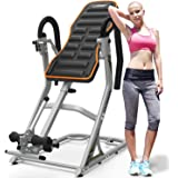 HARISON Heavy Duty Inversion Table for Back Pain Relief 350 LBS Capacity with 3D Memory Foam, Back Inversion Chair with 180 D