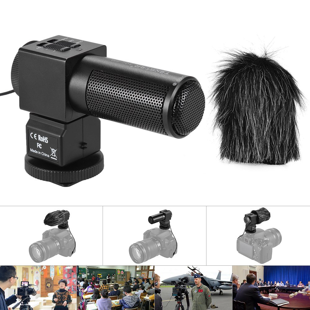 Andoer Takstar SGC-698 Pro Photography Interview On-camera Microphone Recording Mic for Nikon Canon Sony DSLR Camera DV Camcorder