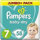 Pampers Baby-Dry-luiers, maat 7, 58 stuks