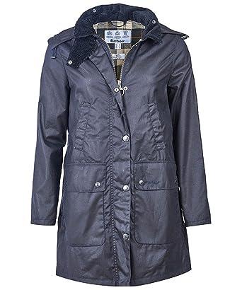 6f783763cb1 Barbour Ladies Heritage Wax Border Jacket Navy Size UK 12  Amazon.co.uk   Clothing