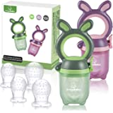 ANGELBLISS Baby Fruit Feeder Pacifier - Fresh Food Feeder, Infant Fruit Teething Toy for 3-24 Months Toddlers & Kids…