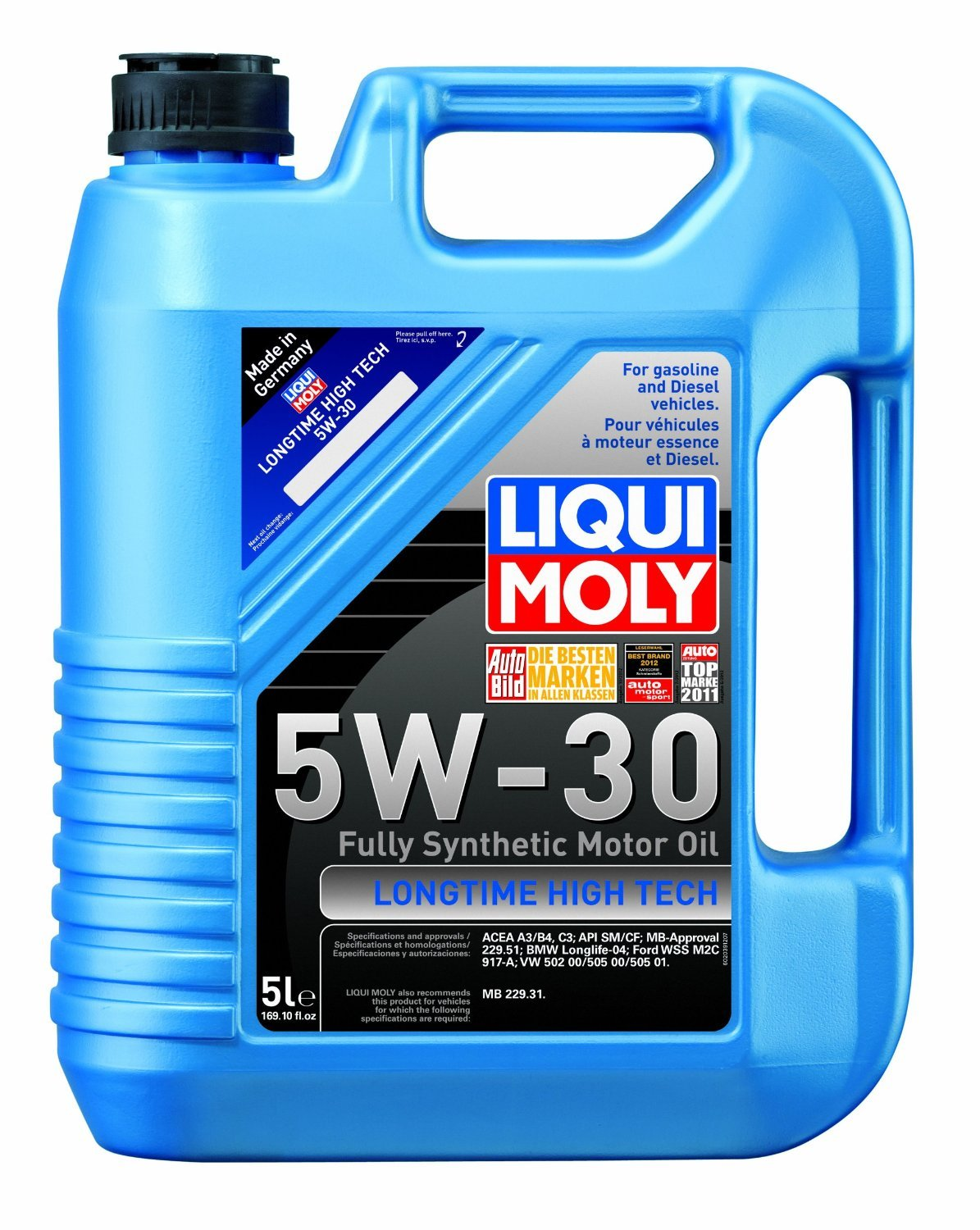 Liqui Moly (2039-4PK) Longtime High Tech 5W-30 Synthetic Motor Oil - 5 Liter, (Pack of 4) by Liqui Moly