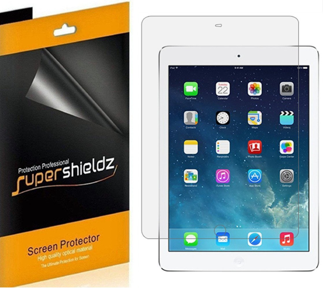 (3 Pack) Supershieldz for Apple iPad Air 2 and iPad Air 1 (9.7 inch) Screen Protector, High Definition Clear Shield (PET) 71aBh5mUXPL