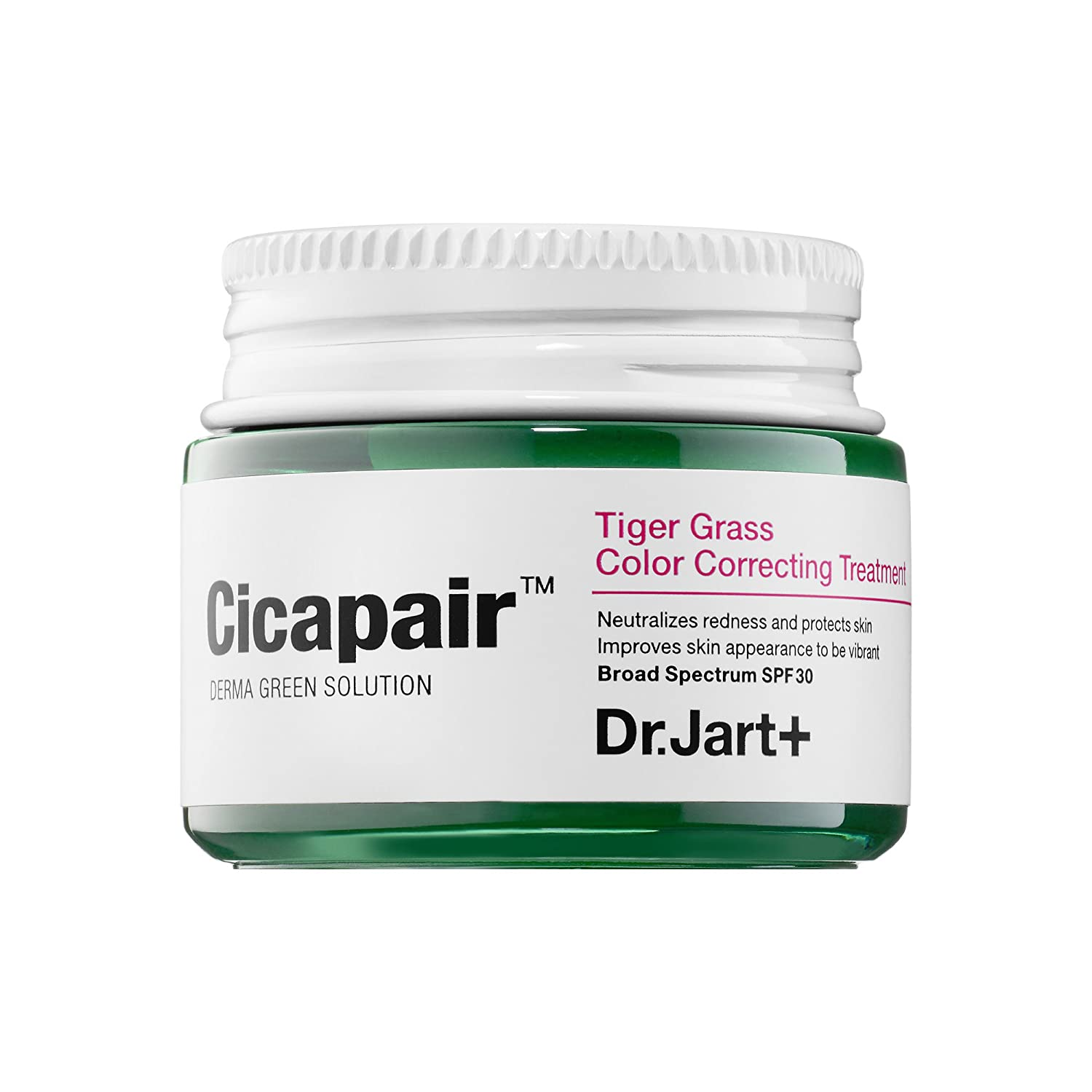 DR. JART+ Cicapair Tiger Grass Color Correcting Treatment SPF 30 0.5 oz/ 15 mL (travel size)