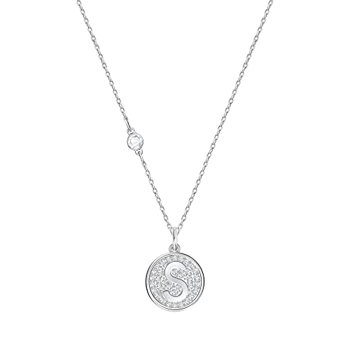 280116ccae64a Swarovski Letter Pendant ''S'', Crystal And Rhodium Plated, 5367221 ...