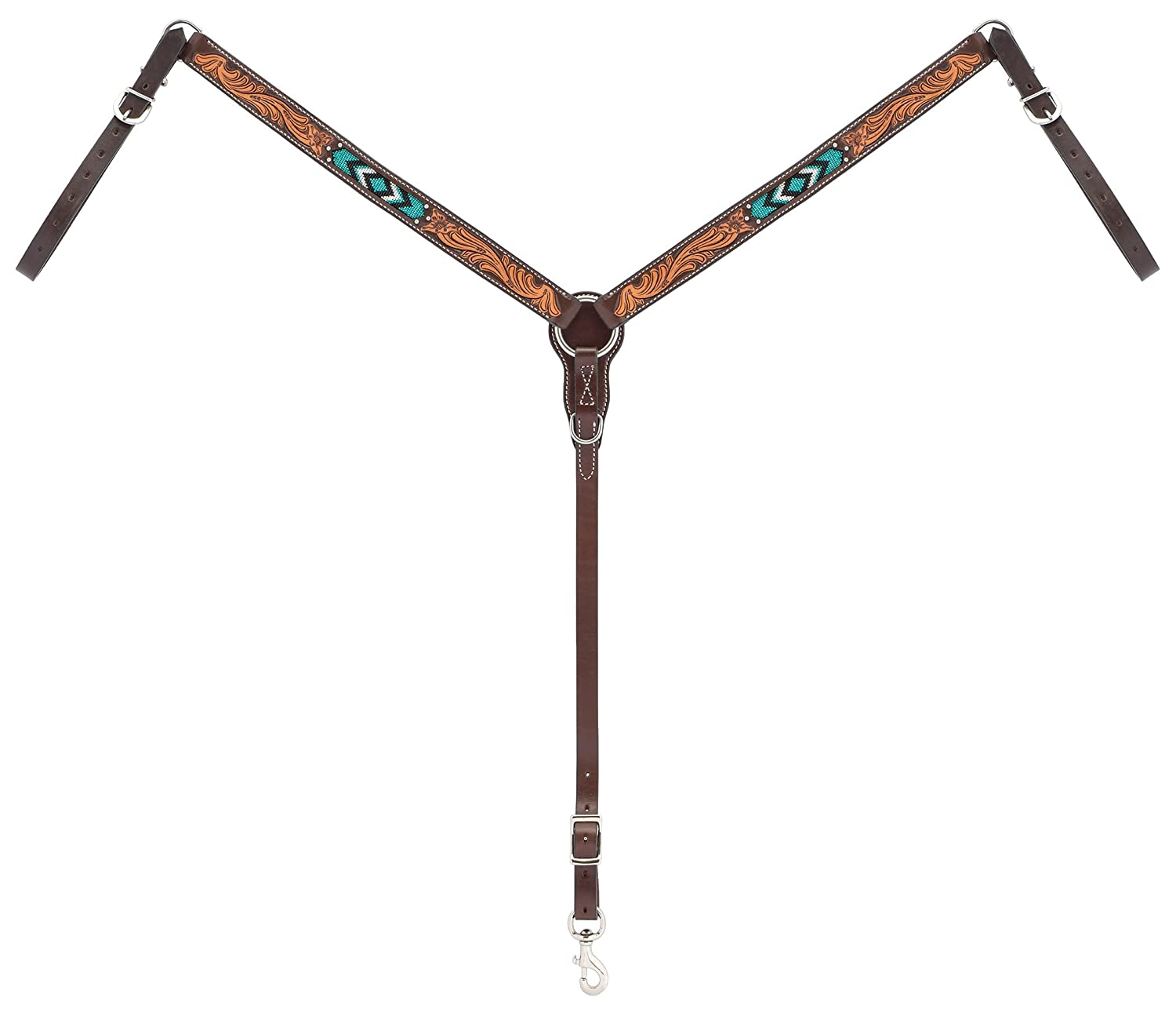 Turquoise Cross Turquoise Beaded Straight Breast Collar