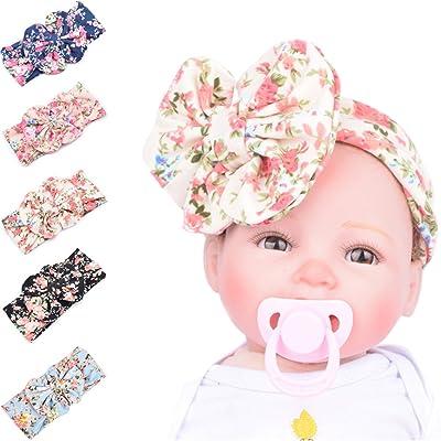 mignon pas cher conception adroite style exquis 5 Pièces Bandeau Cheveux Imprimé Oreilles Lapin Enfant Bébé ...
