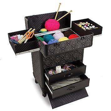 Carrito organizador de artículos de manualidades en color turquesa, ideal para accesorios de costura y tejidos.: Amazon.es: Hogar
