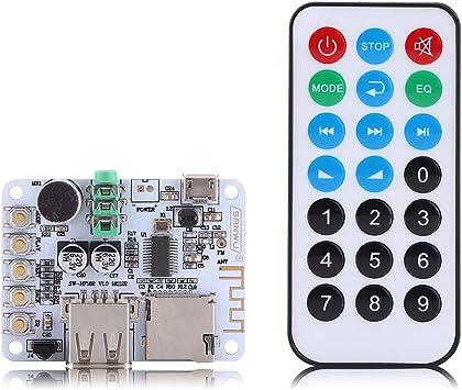 Bluetooth 4.1 Audio Module Receiver Microphone Amplifier USB TF FM MP3 FLAC UE