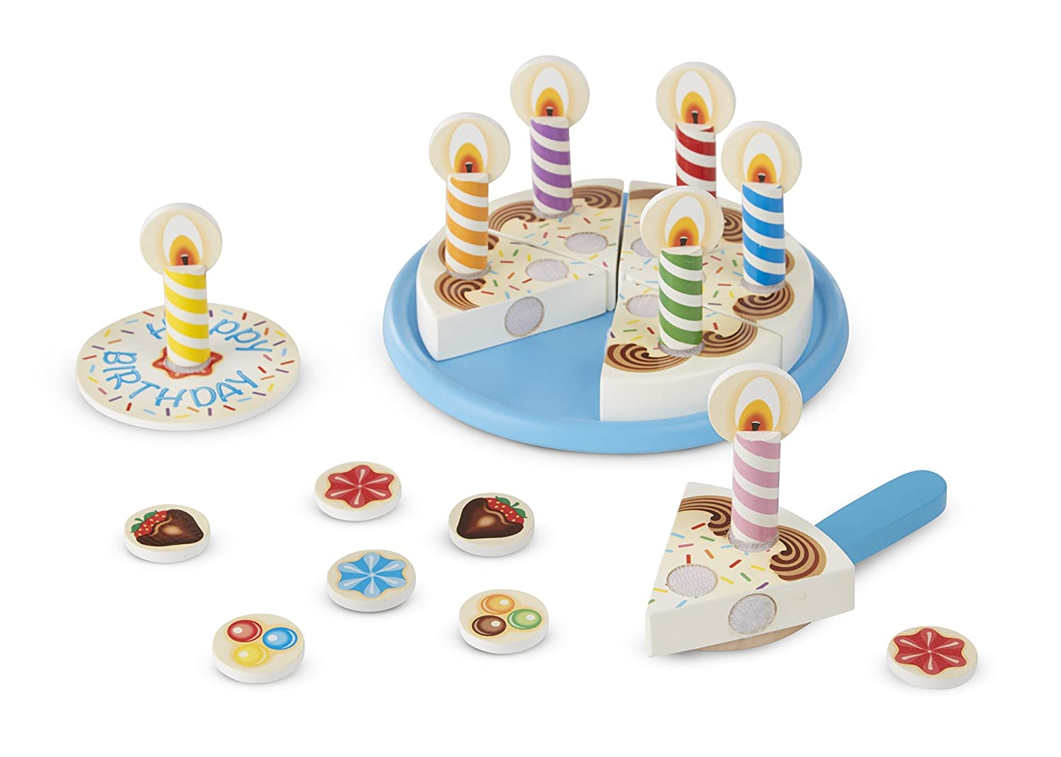 Amazon Melissa Doug Birthday Party Cake Wooden Play Food