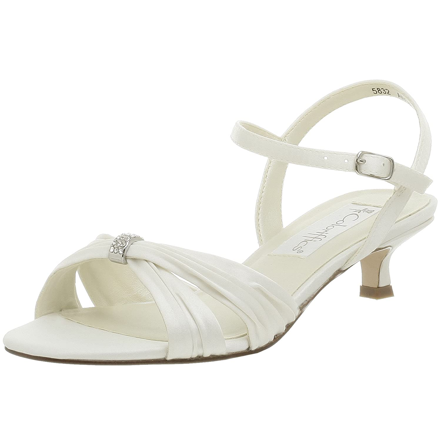 3cf007361e2 Coloriffics Andie Ivory Wedding Shoes (Standard or Wide Fit Available)  UK3-10 (UK8 WIDE FIT (US10 EU41))  Amazon.co.uk  Shoes   Bags