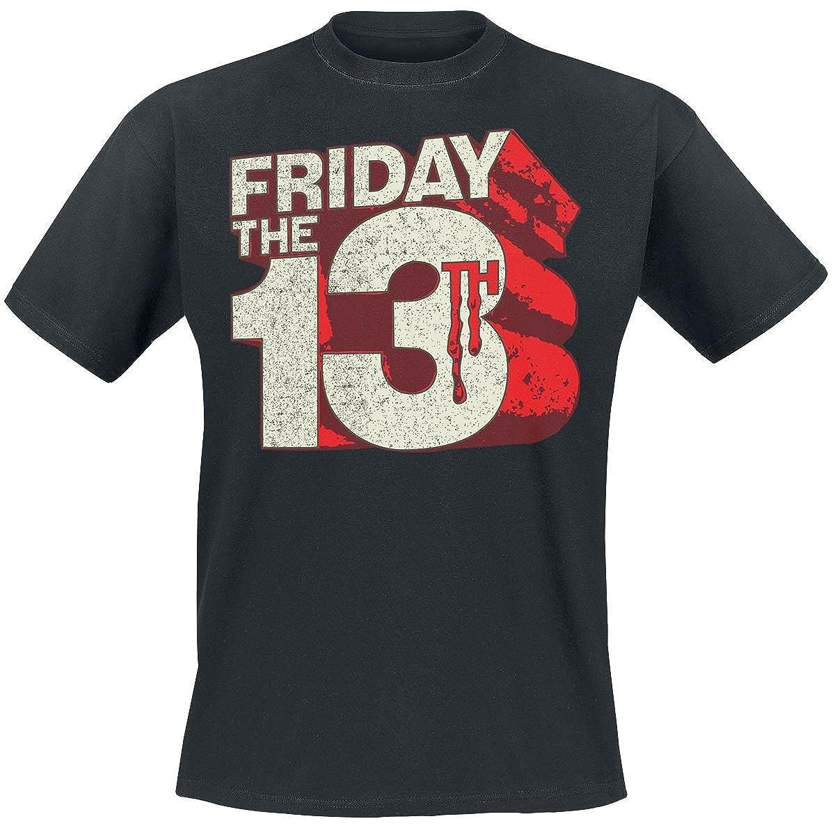 Friday The 13th T Shirt Block Logo new Official Mens Black
