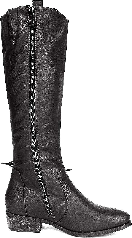 DREAM PAIRS Womens Acker Knee High Boots