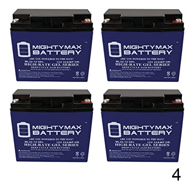 Mighty Max Battery 12V 22AH Gel Battery Replaces Merida PowerCycle 550 LTD - 4 Pack Brand Product : Electronics
