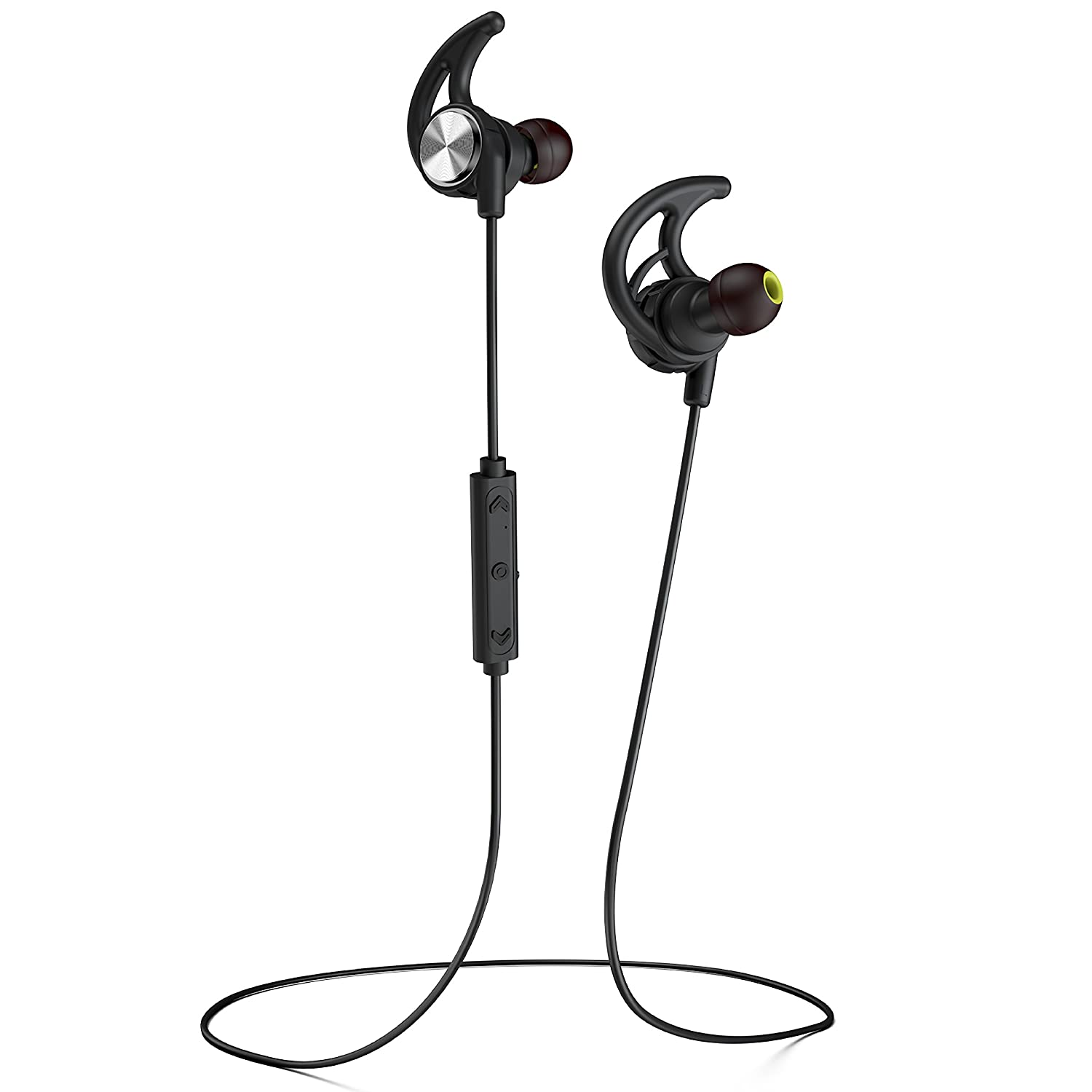 a9ec7204c5f Phaiser BHS-750 Bluetooth Headphones Runner Headset Sport Earphones with  Mic and Lifetime Sweatproof Guarantee - Wireless Earbuds for Running,  Blackout
