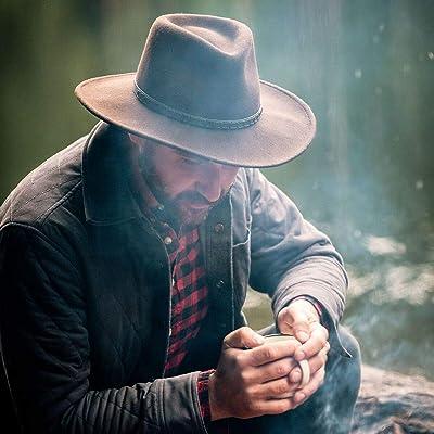 Stetson Bozeman Crushable Outdoor Wool Felt Hat Mushroom Medium 7-7 1//8