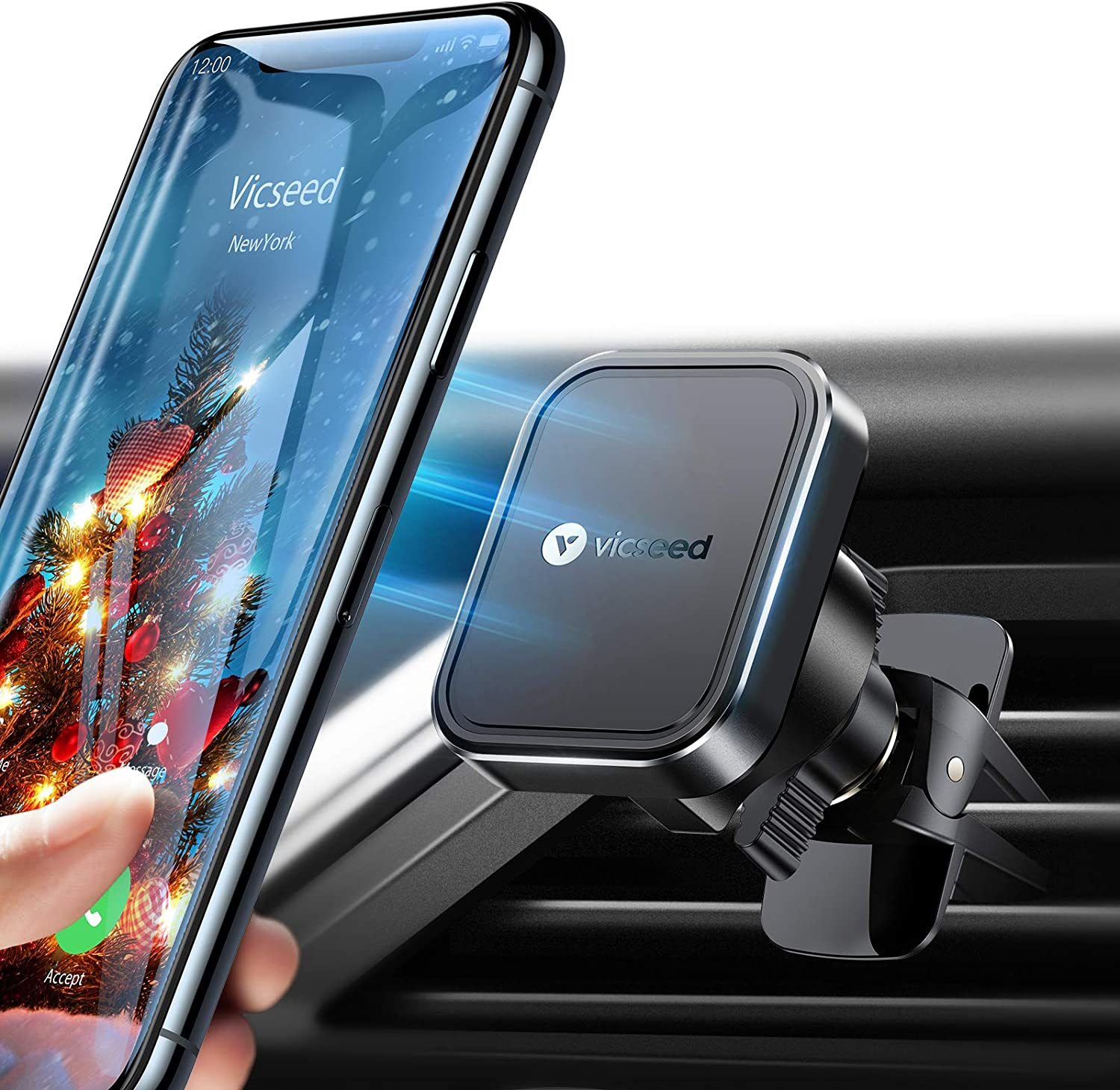 best phone holder for round air vents, VICSEED phone holder for round air vents