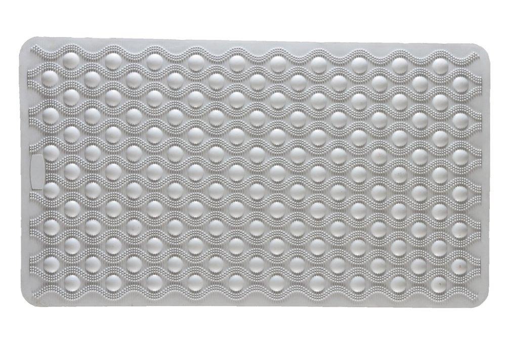 NOVA Medical Products Rubber Bath Mat with Suction Grip, White