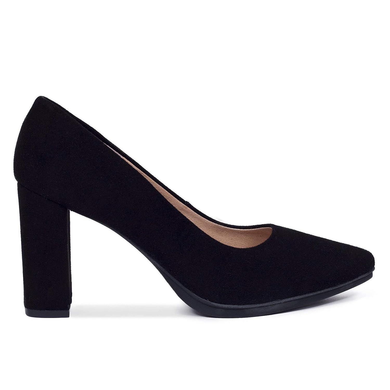 Zapatos Salón. Zapatos Piel Mujer Hechos EN ESPAÑA. Zapatos Tacón Negro. Zapato Mimao. Zapatos Mujer Tacón. Zapatos Mujer Fiesta y Baile Latino. Zapato Cómodo Mujer con Plantilla Confort Gel