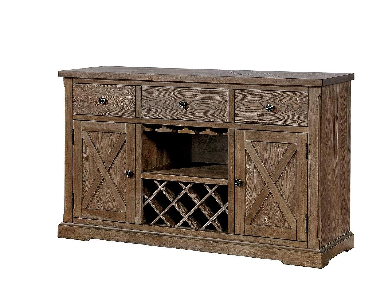 Amazoncom Benzara Bm183236 Wooden Server With Two Door Cabinet And