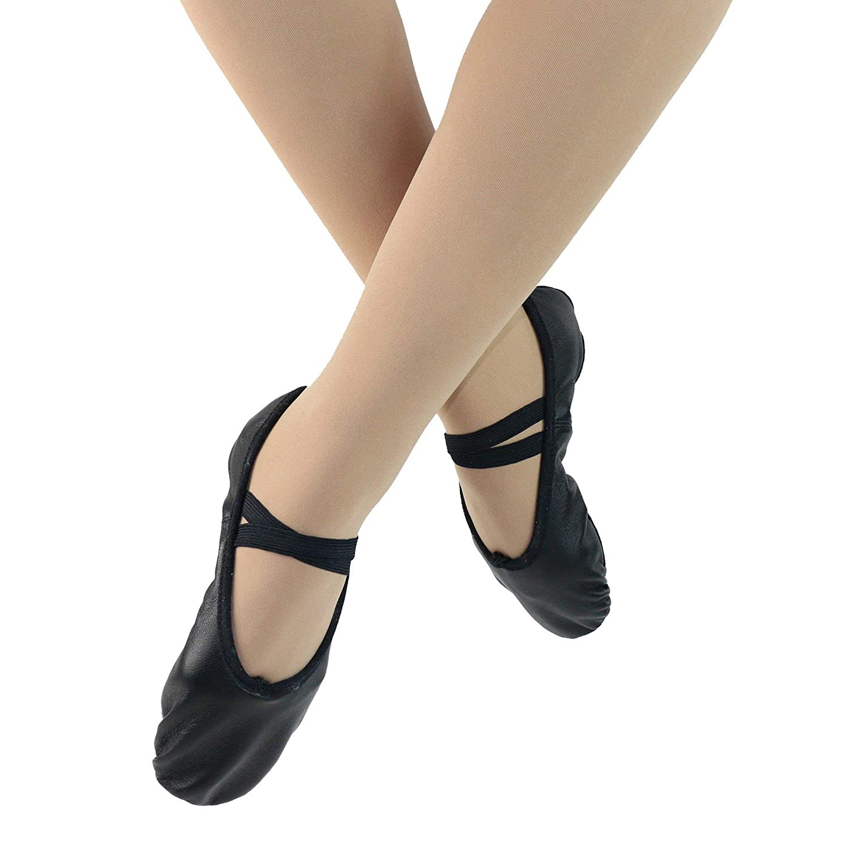 Danzcue Womens Split Sole Leather Ballet Shoes