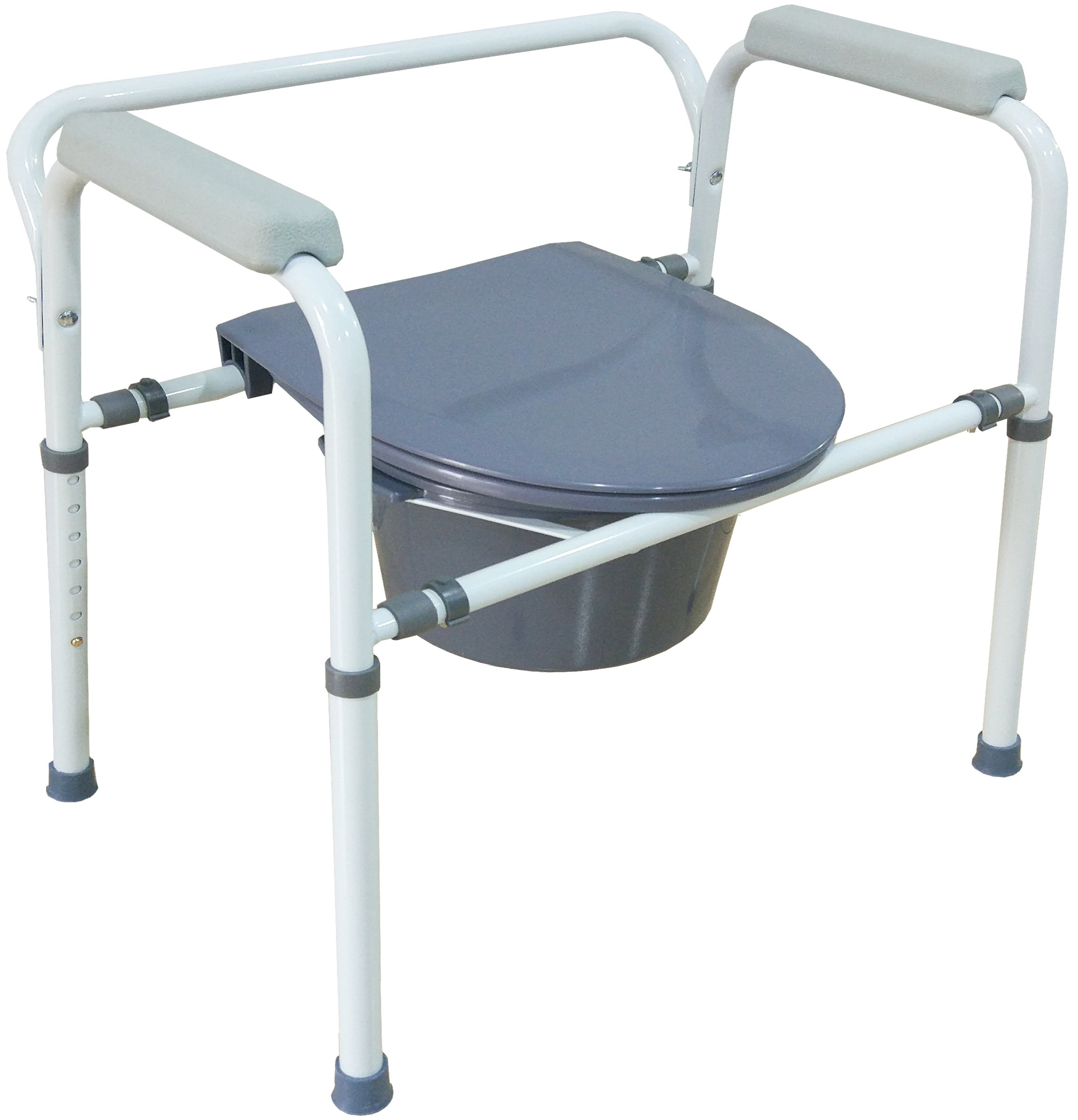 Medokare Bedside Commode Chair - Heavy-Duty Steel Commode Seat, Bedside Potty Chair for Adults, Medical Handicap Toilet Seat with Handles and Bucket by Medokare (Image #3)