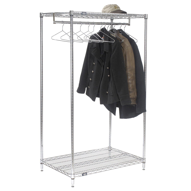 Amazon.com: nexel 2-shelf perchero con 12 perchas, acabado ...