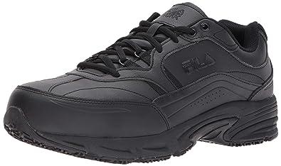 b606f871c49e Fila Men s Memory Workshift Slip Resistant Steel Toe Work Shoes Food  Service