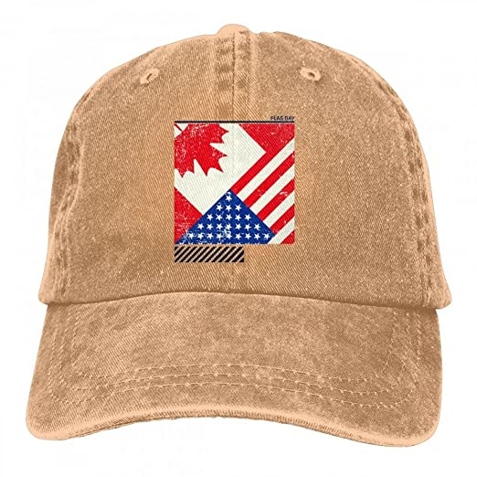 HM66-CAP Flag Day Merica Independence Day Canada Mens Womens Cotton  Adjustable Denim Jeanet Baseball Cap Outdoor Sports Hat at Amazon Men s  Clothing store  5b1d4ebf48