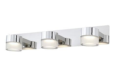 Briloner Leuchten Led Bathroom Lamp Mirror Lighting Ceiling And Wall Light Chrome Finish 3 X 400 Lumen Leds Ip44 3 X 5 W 50 X 123 X 93 Cm