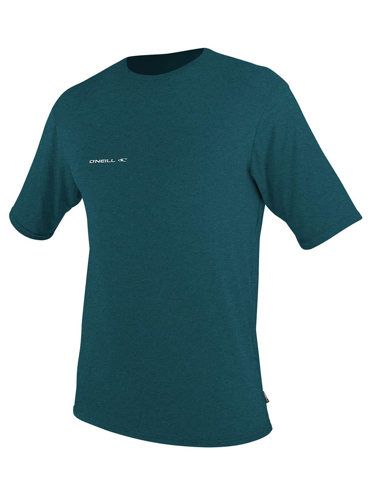 O'Neill Wetsuits Men's Hybrid UPF 50+ Short Sleeve Sun Shirt, Teal, Small