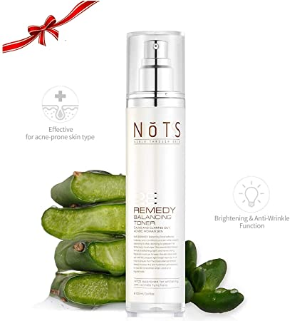 NOTS 28 Remedy Balancing Toner – Nopal Cactus Soothe Acne-prone and Sensitive Skin Anti Aging Toner Clear Blemishes Acne Scars