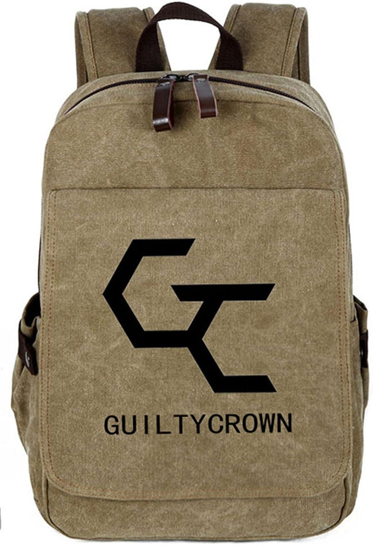 Gumstyle Guilty Crown GC Vintage Canvas Book Bag Laptop Backpack Casual School Bag
