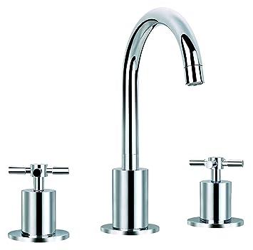 3 hole bathroom sink faucet. ancona prima chrome 3 bathroom sink faucet with 3-hole installation hole